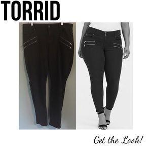 Torrid Black Skinny Jeans Zipper Details 18 Tall